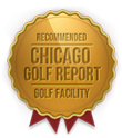 badge for best driving range by Chicago Golf Report